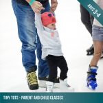 Tiny Tots - Parent and child ice skating lessons for kids aged 3-4
