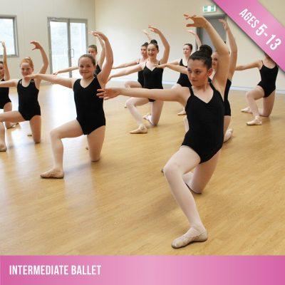 Intermediate ballet classes in our dance studio.
