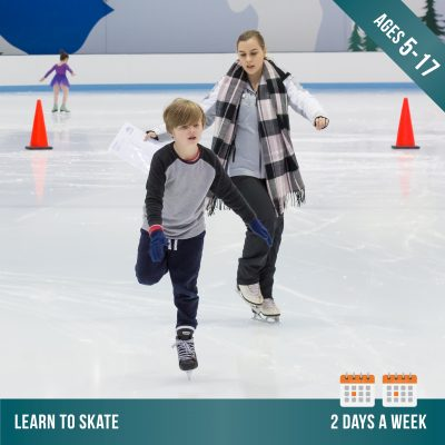Learn to ice skate at Cockburn Ice Arena 2 days per week. Ice skating lessons for kids.