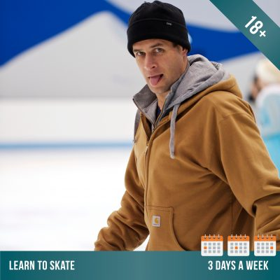 Learn to ice skate at Cockburn Ice Arena. Adult ice skating lessons 3 days per week.