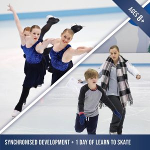 Synchro ice skating classes while doing Learn to Skate at Cockburn Ice Arena