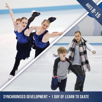Synchronised Skating development course plus a day of Learn to Skate ice skating lessons.