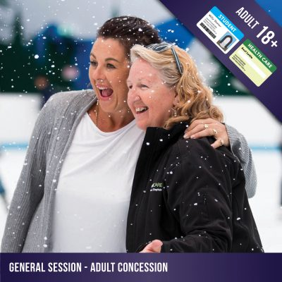 Adult concession admission to a general ice skating session