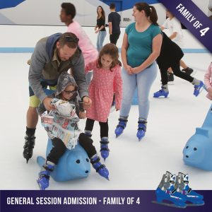 General ice skating for a family of 4