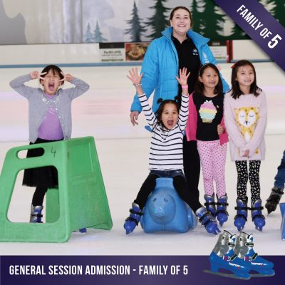 General ice skating for a family of 5