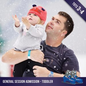 Toddler admission to a general ice skating session