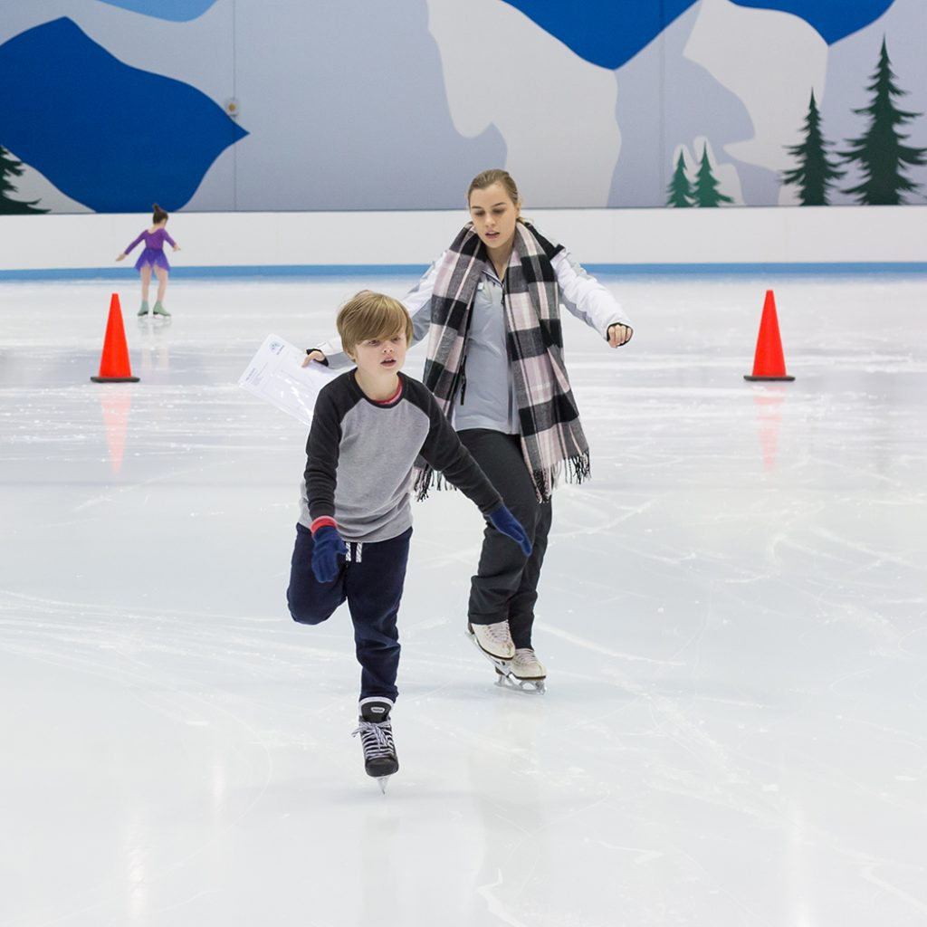 School ice skating lessons