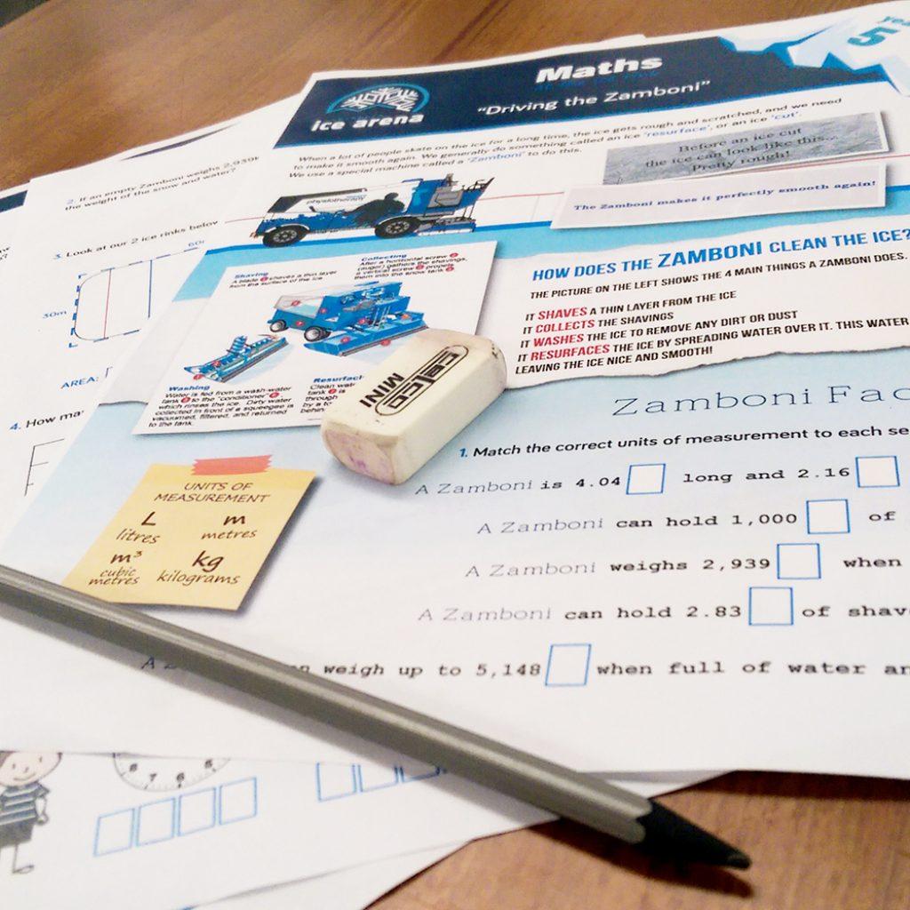 Cockburn Ice Arena Maths ed-cursion worksheet