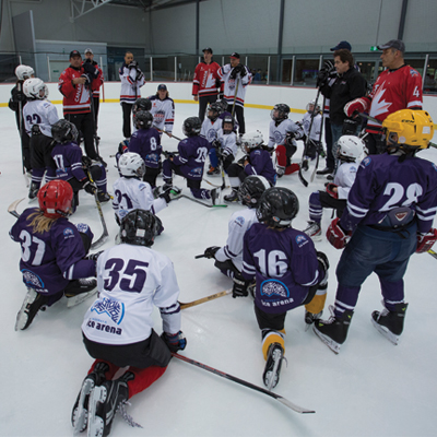 Learn ice hockey as a school sport!