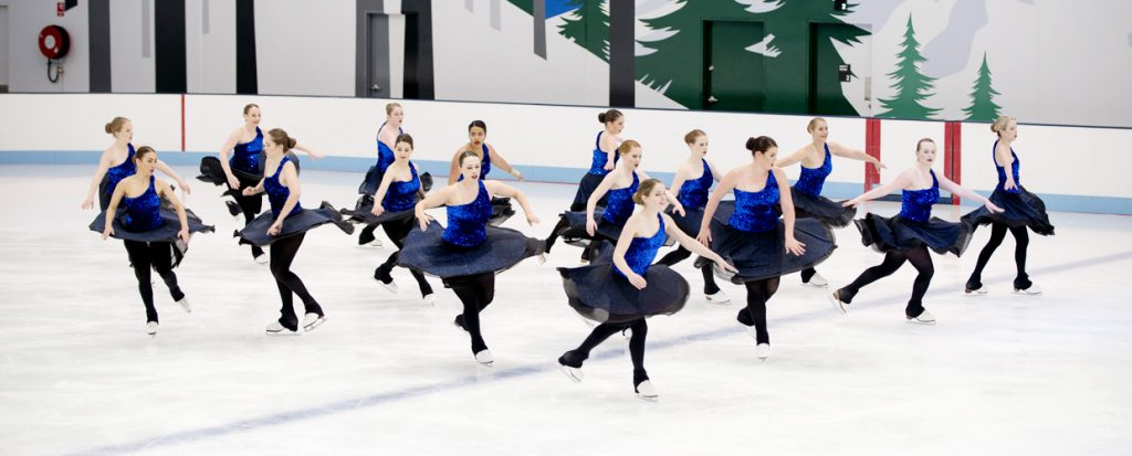 Synchronised skating demonstration from our opening day in October of 2015