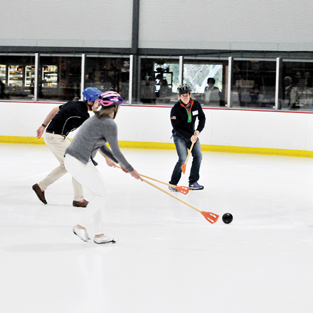 Broomball corporate team building