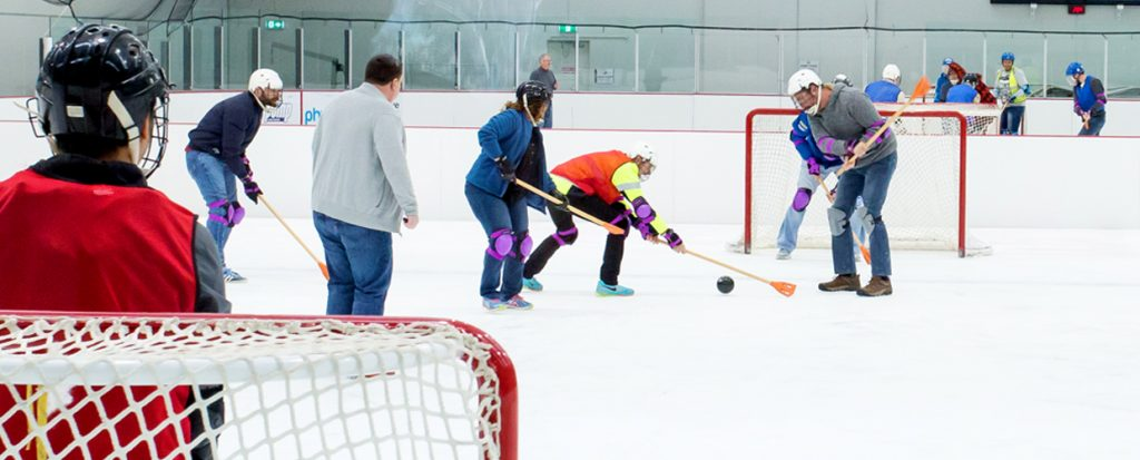 Broomball as a corporate function activity