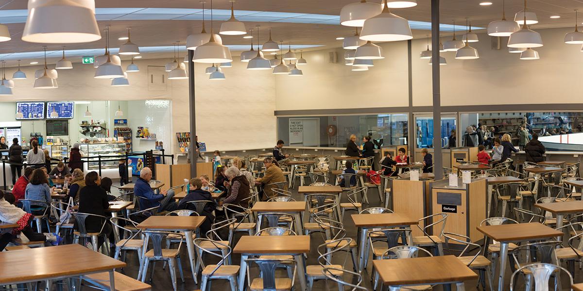 Frostbite cafe inside Cockburn Ice Arena