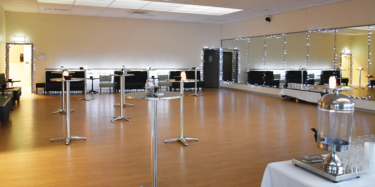 Our 150 square meter studio set up for an engagement function