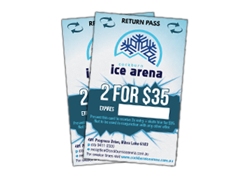 Customers receive a free discount ice skating voucher with every fundraising ticket purchased
