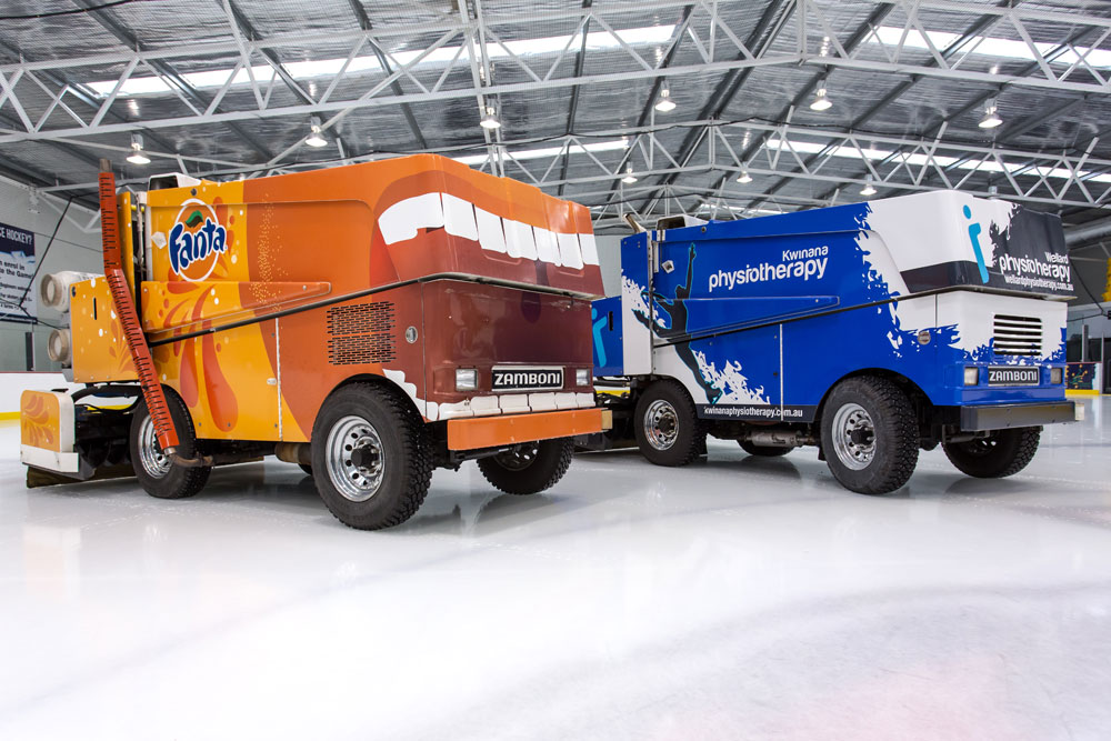 Zamboni advertising - a full vinyl wrap