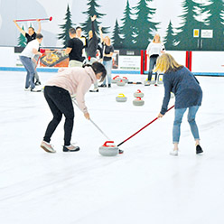 Corporate team building curling