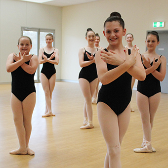Kids Ballet classes in our dance studio