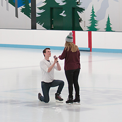 on ice marriage proposal private ice booking