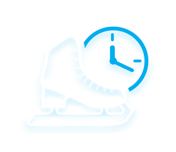 ice skating session times icon