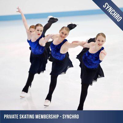 private ice skating membership synchro