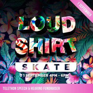 Title graphic for Telethon Speech & Hearing Ice Skating Fundraiser on the 1st of September