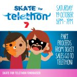 Skate for Telethon Ice Skating Fundraiser on Saturday the 19th of October from 5pm