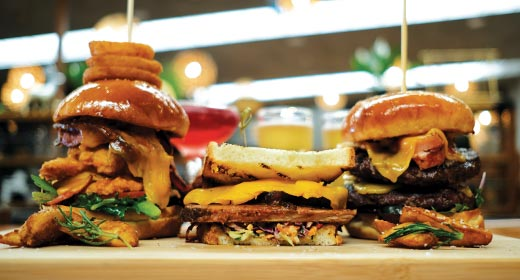 Our bigger burger range, available at Cabin 401 Bar & Grill