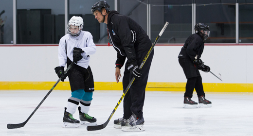 Ice hockey lesson at Cockburn Ice Arena