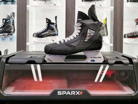 The Sparx skate sharpening machine at mySkate in Cockburn Ice Arena