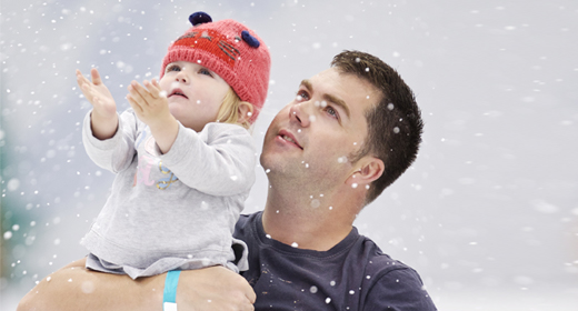 Ice skating classes for toddler and dad