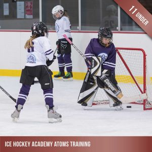 Ice hockey training for Atoms - children under 11
