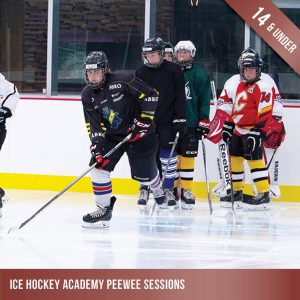 Ice hockey training for Peewees - children under 14