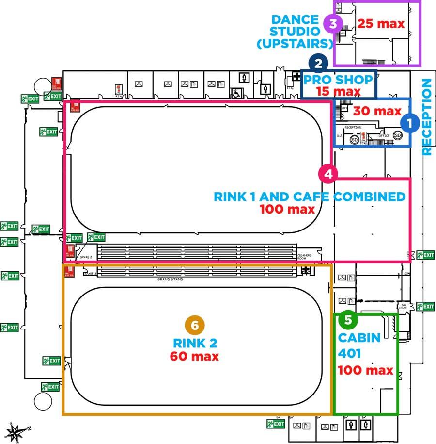 covid phase 3 venue capacity map