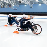 Racing on the Ice Bikes at an Ice Byke birthday party