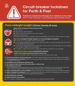 Mark McGowan Facebook update about 4 day Perth lockdown